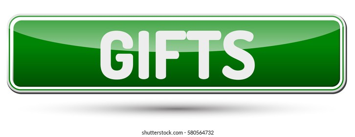 Gifts - Abstract beautiful button with text.