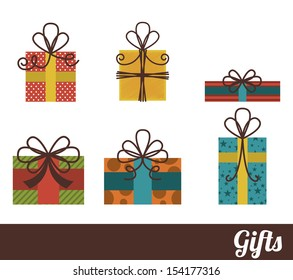 gifts design over white background vector illustration