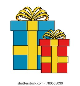gifts presents isolated icon