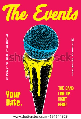 gig poster template stock vector royalty free 634644929 shutterstock