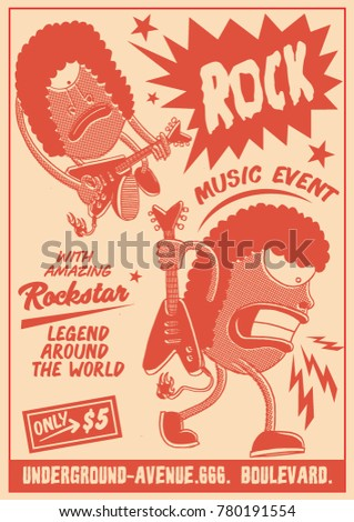 gig poster template vintage style stock vector royalty free