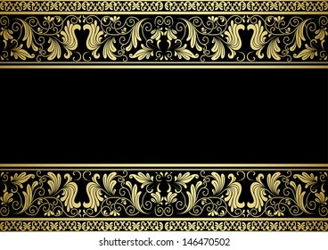 Gilded frame with decorative elements in retro style for design. Jpeg version also available in gallery