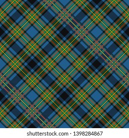 Gillies Ancient Tartan. Diagonal cell, seamless pattern for fabric, kilts, skirts, plaids