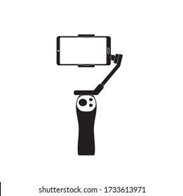 Gimbal tripod vector illustrator for artwork and graphic design