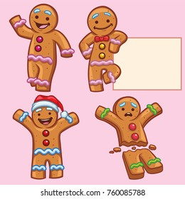 ginger bread character set