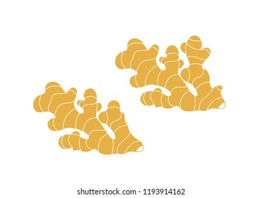 Ginger logo. Isolated ginger on white background. EPS 10. Vector illustration