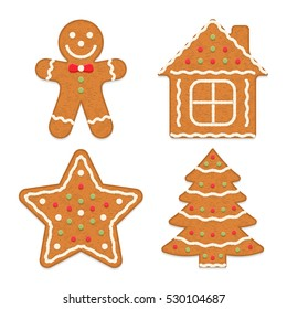 Gingerbread cookies, vector eps10 illustration