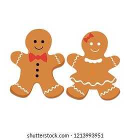 gingerbread gift celebration vector illustration