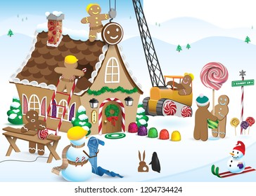 Gingerbread House construction