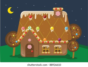 gingerbread house vector/illustration