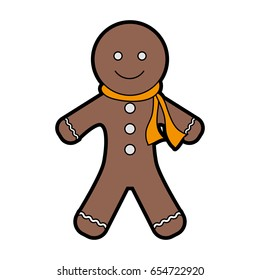 gingerbread man cookie christmas related icon image