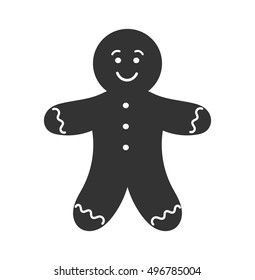 Gingerbread man icon. Vector illustration