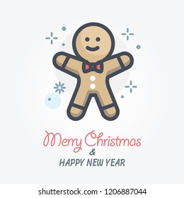 gingerbread vector icon