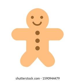 gingerbread-man icon. flat illustration of gingerbread-man vector icon. gingerbread-man sign symbol - Shutterstock ID 1590944479