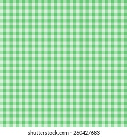 Gingham green square seamless pattern background vector.