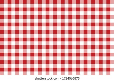 Gingham pattern Cherry color. Texture from rhombus/squares for - plaid, tablecloths, clothes, shirts, dresses, paper, bedding, blankets, quilts and other textile products. Vector illustration.