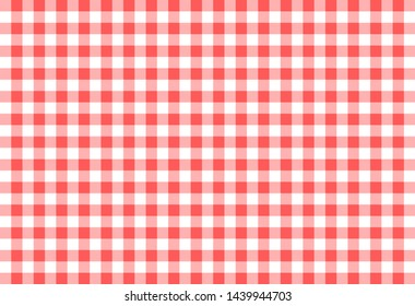 Gingham pattern. Texture from rhombus/squares for - plaid, tablecloths, clothes, shirts, dresses, paper, bedding, blankets, quilts and other textile products. Vector illustration.