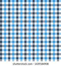Gingham patternblack and blue. Texture from rhombus/squares for - plaid, tablecloths, clothes, shirts, dresses, paper, bedding, blankets, quilts and other textile products. Vector illustration EPS 10