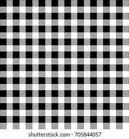 Gingham plaid. Checkered tablecloth background. Vector seamless pattern.