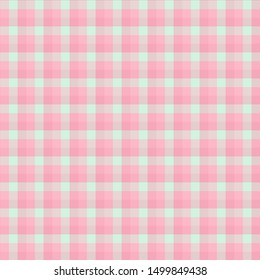 Gingham seamless light red pattern. Texture for plaid, tablecloths, clothes, shirts,dresses,paper,bedding,blankets,quilts and other textile products. Vector Illustration EPS 10