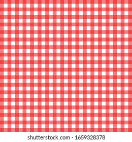 Gingham seamless pattern. Texture from rhombus/squares for - plaid, tablecloths, clothes, shirts, dresses, paper, bedding, blankets, quilts and other textile products. Vector illustration