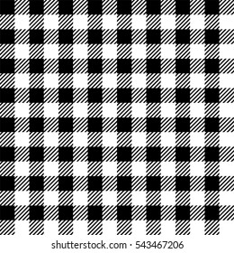 Gingham seamless plaid pattern