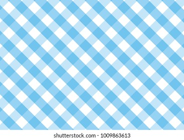 Gingham sky blue and white pattern. Texture from rhombus/squares for - plaid, tablecloths, clothes, shirts, dresses, paper and other textile products.