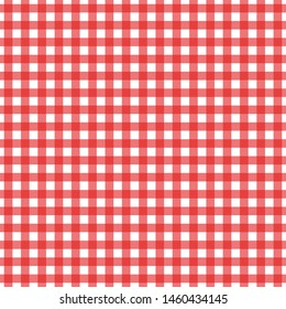 Gingham tablecloth fabric pattern. Seamless colored textile illustration. Crossed lines retro vintage design pattern.