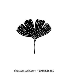 gingko leaf doodle icon