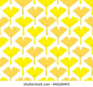 Gingko nut vector seamless pattern