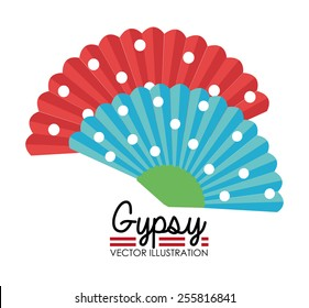 Gipsy design over white background, vector illustration.