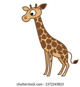 giraffe clip art vector digital graphic