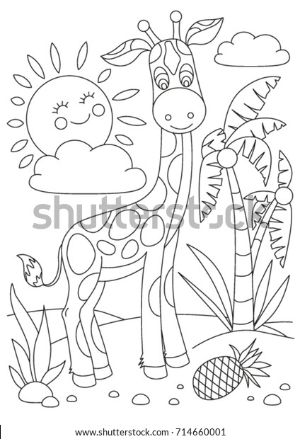 giraffe coloring book childrens picture 600w