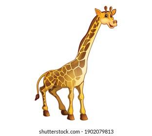 Giraffe Illustration with white background in eps8