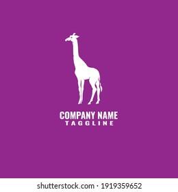 giraffe logo company flat minimalis