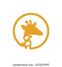 Giraffe logo icon vector. Modern silhouette animals design