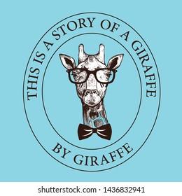 Giraffe themed t-shirt and art design