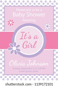 Girl baby shower invitation, It's a girl