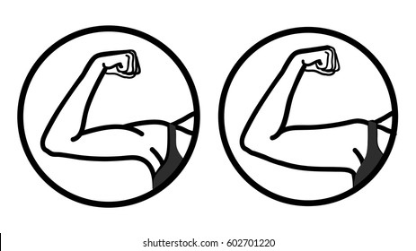 Girl before and after fitness sport. Body correction using fitness exercises at gym or plastic surgery. Vector icons.