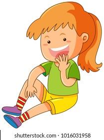 Girl with big smile illustration