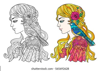 Art Nouveau Coloring Page High Res Stock Images Shutterstock