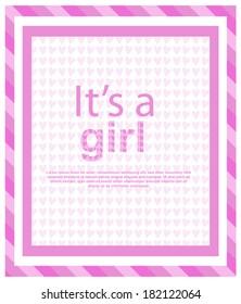 it's a girl card.