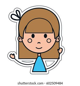 girl cartoon icon