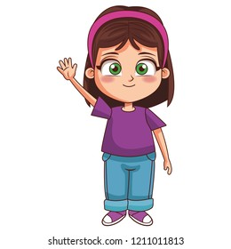 Girl children cartoon