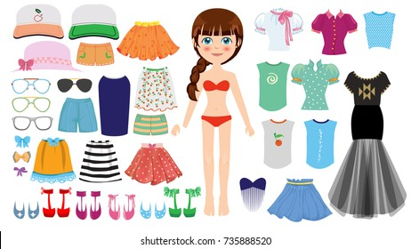 Girl with clothes collection