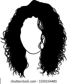 Girl with curly hair vector isolated avatar