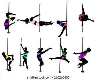 girl dancing around the pole