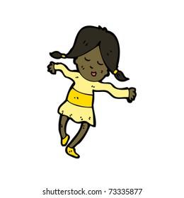 girl dancing cartoon