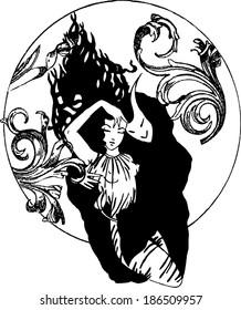 girl and demon