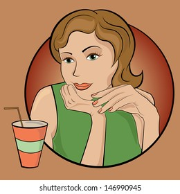 Girl with drink